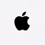 Apple zwartwit logo